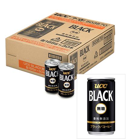 「UCC BLACK無糖 缶185g」1ケース