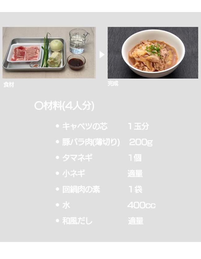 キャベツの芯 + 回鍋肉の素で肉キャベ