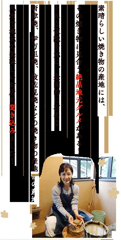 全国的に有名な唐津焼、伊万里焼、波佐見焼などの焼き物の産地九州で地元の美味しいお店を聞き込みました!