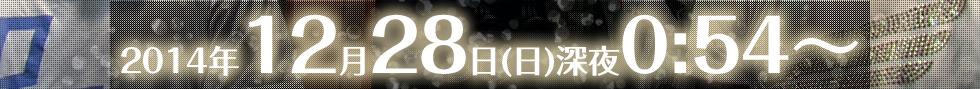 2014年12月28日(日)深夜0:24〜